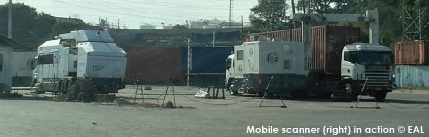 Mombasa Port Mobile Sanning Unit - by Elephant Action League