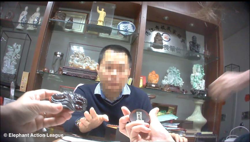 Grinding Rhino - trafficker China - EAL